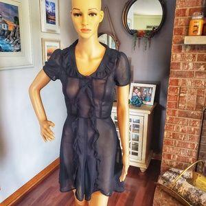Romantic sheer black dress